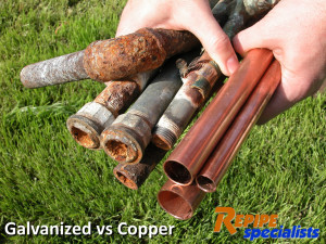 Copper Repipe Comparison - Copper vs. Galvanized. Repipe Specialists uses the finest quality materials to provide a lifetime guarantee on their materials and workmanship.